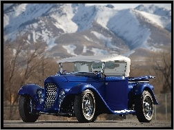 1932, Eclipse, Ford, Niebieski, Roadster