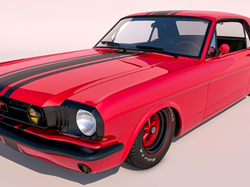 1965, Zabytkowy, Ford Mustang GT Coupe