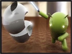 Apple, Android, Miecz