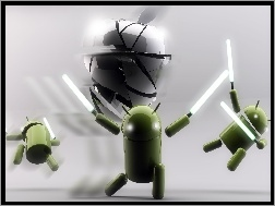 Apple, Android, Miecze