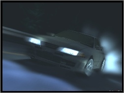 auto, race, Initial D, night