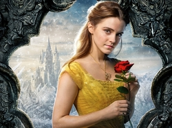 Emma Watson, Beauty and the Beast, Róża, Film, Aktorka, Piękna i Bestia