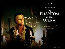 Gerard Butler, świecznik, Phantom Of The Opera