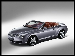 Cabrio, Srebrny, Bentley Continental