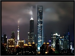 Center, World, Shanghai, Chiny, Financial