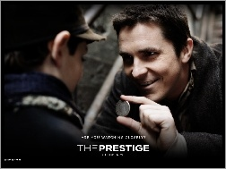 chłopiec, Christian Bale, The Prestige, moneta