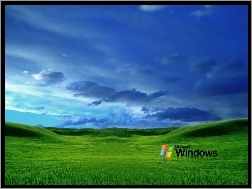 Chmury, Windows XP, łąki