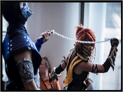 Cosplay, Scorpion, Mortal Kombat, Sub-Zero