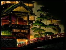 drzewa, Spirited Away, dom