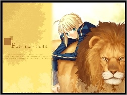 Fate Stay Night, lew, kobieta