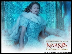 brzydka, siedzi, Tilda Swinton, The Chronicles Of Narnia, futro