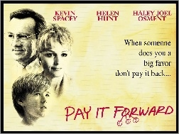 kartka, Haley Joel Osment, Kevin Spacey, Pay It Forward, Helen Hunt