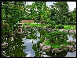 United Kingdom, Holland Park, Kyoto Gardens, London