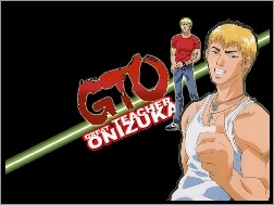 logo, facet, Great Teacher Onizuka, postacie