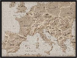Mapa Europy Na Pulpit