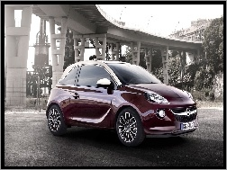 Most, Bordowy, Opel Adam