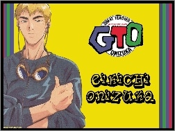 gogle, napisy, postać, Great Teacher Onizuka, logo