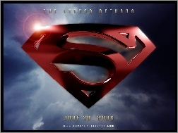 niebo, logo, Superman Returns, znak