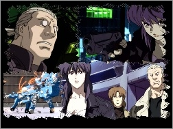 roboty, pistolet, ludzie, Ghost In The Shell