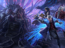 Nero, Postacie, Devil May Cry 5, Gra, Dante
