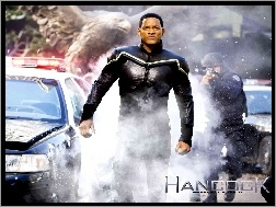 radiowóz, Will Smith, Hancock, dym