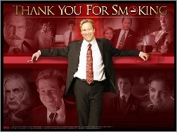 Sam Elliott, Aaron Eckhart, Maria Bello, William H. Macy, garnitur, Katie Holmes, Thank You For Smoking, Cameron Bright