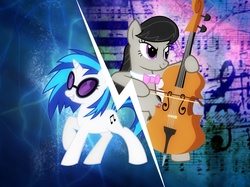 Vinyl Scratch, My little pony, MLP, Octavia