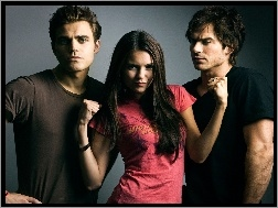 Paul Wesley, Nina Dobrev, The Vampire Diaries, Ian Somerhalder