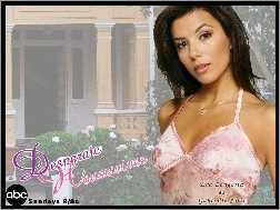 sukienka, Eva Longoria, Desperate Housewives, różowa