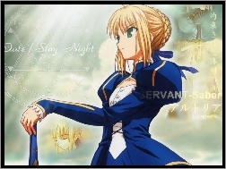 suknia, kobieta, Fate Stay Night, Saber