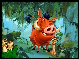 Pumba, The Lion King, Król Lew, Timon