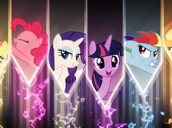 Rainbow Dash, Rarity, Applejack, Fluttershy, Twilight Sparkle, My Little Pony, Pinkie Pie