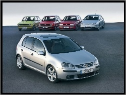 Volkswagen Golf 5, Volkswagen Golf 3, Volkswagen Golf 2, Volkswagen Golf 1, Volkswagen Golf 4