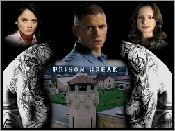 plecy, Sarah Wayne Callies, Wentworth Miller, wieża, Prison Break, Robin Tunney