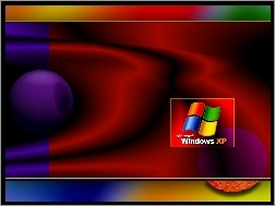 Windows XP, Kolorowe, Logo, Smugi
