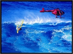 Windsurfing, helikopter