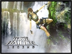 Wodospad, Lara Croft, Tomb Raider Legend