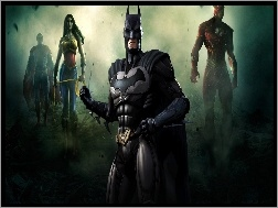 Wonder Woman, Batman, Injustice God Amoug Us, Flash