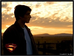 smutny, zachód, Brandon Routh, Superman Returns, płot