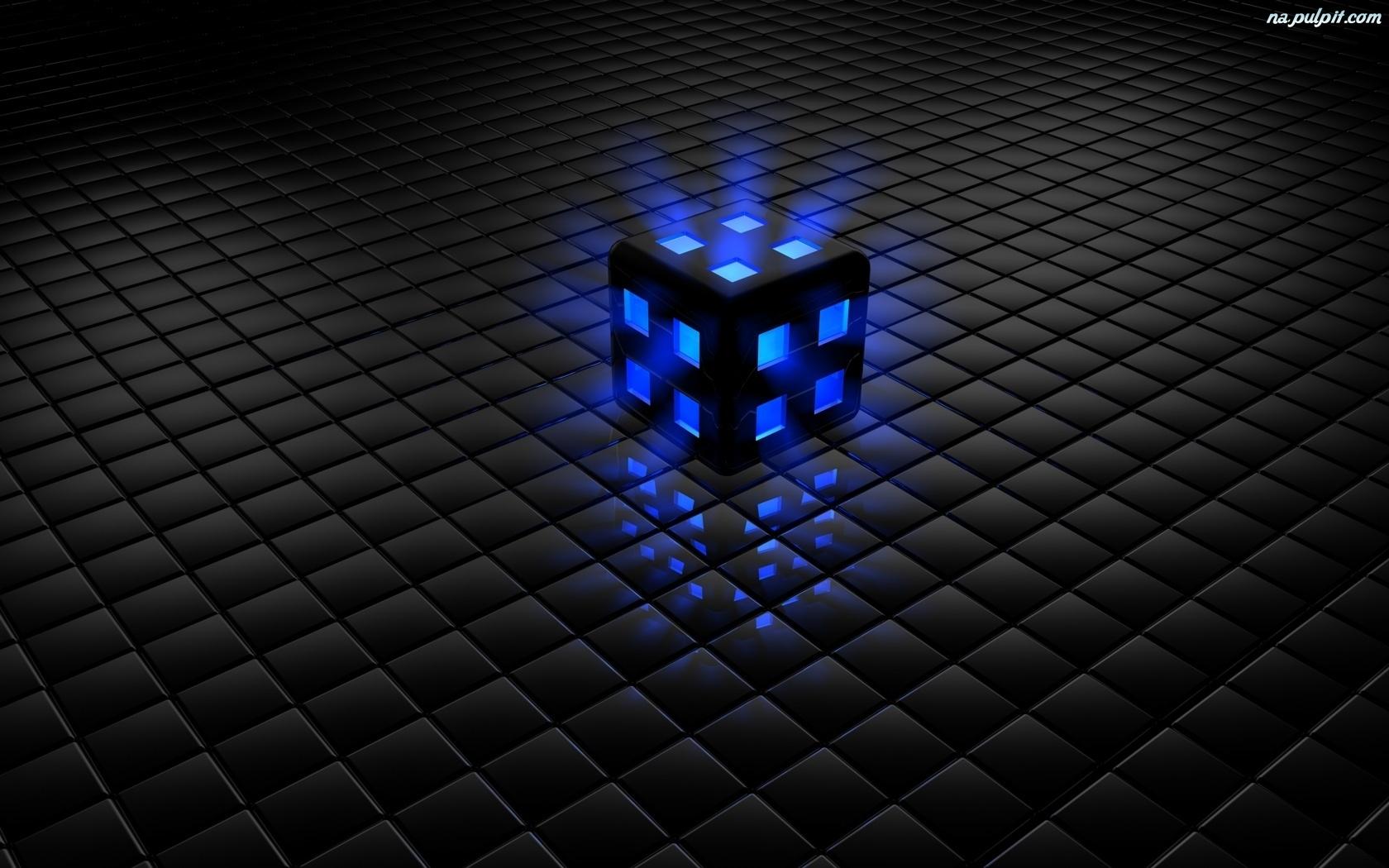 3d Kostka Podświetlona Grafika Na Pulpit