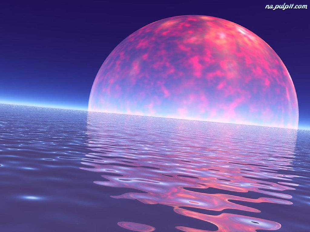 Morze Wektorowa 3d Księżyc Na Pulpit