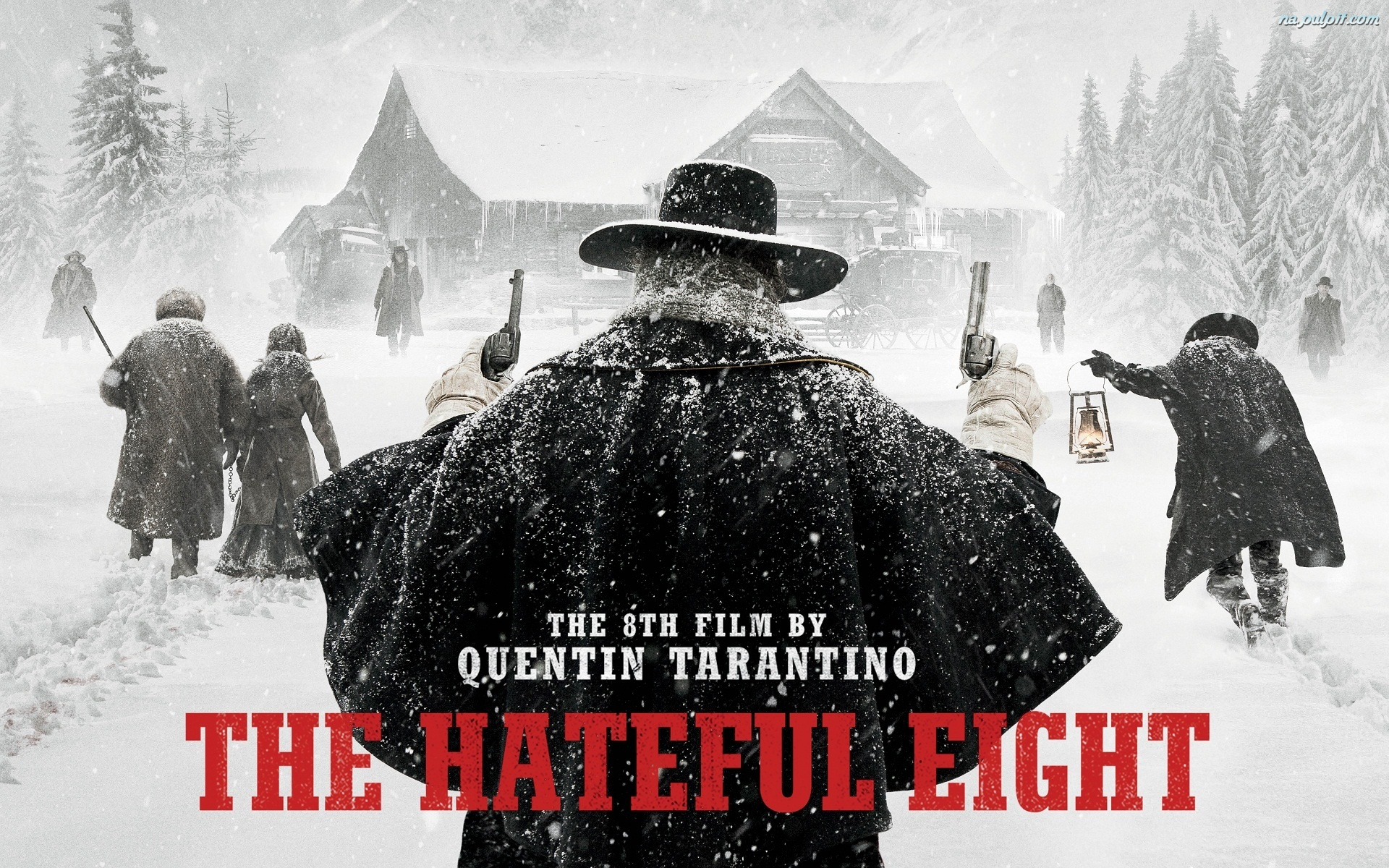 Śnieg, Nienawistna Ósemka, The Hateful Eight, Rewolwer