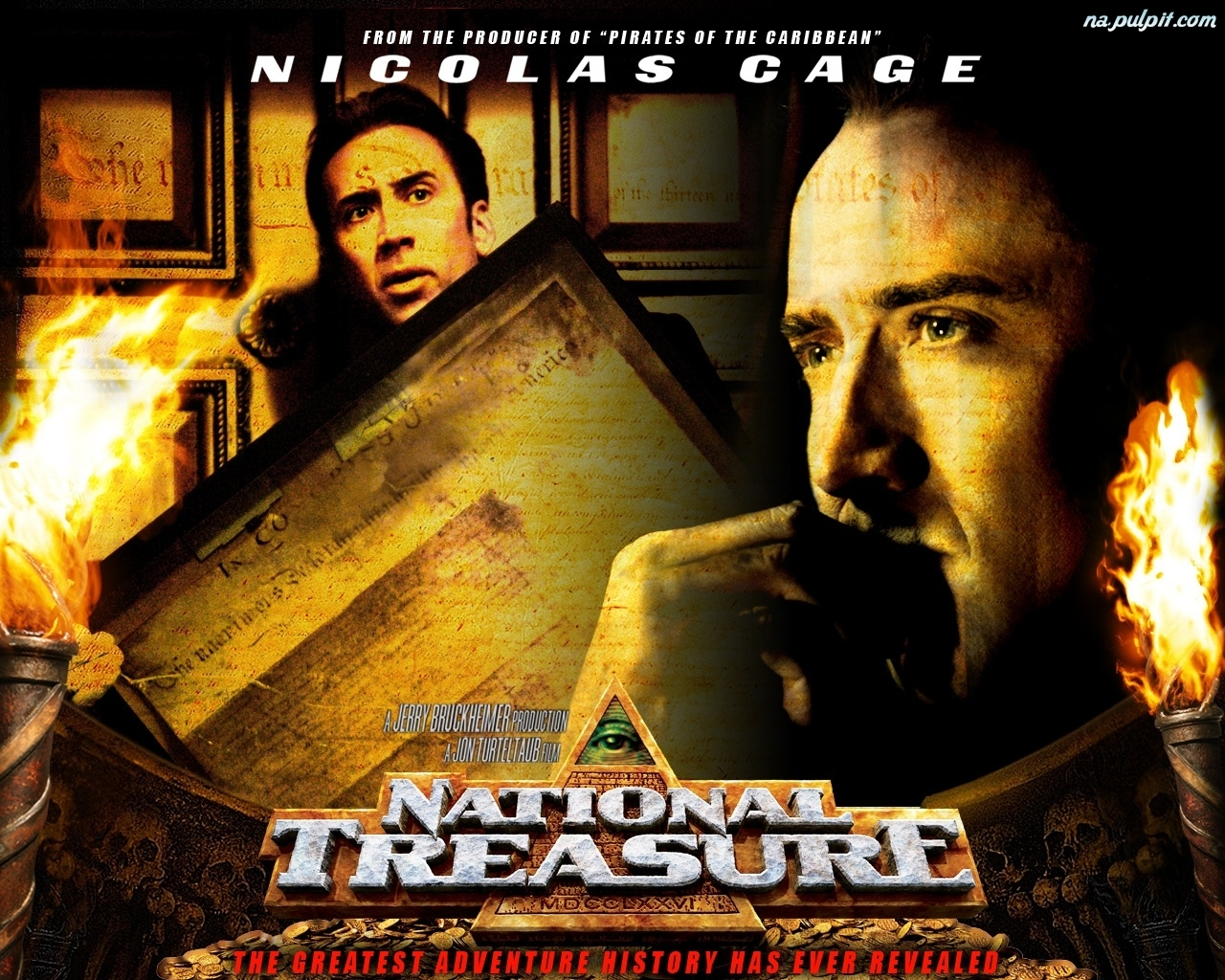 pismo, obrazy, Nicolas Cage, National Treasure 1, stare