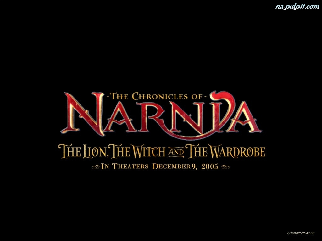 czarne tło, The Chronicles Of Narnia, npis
