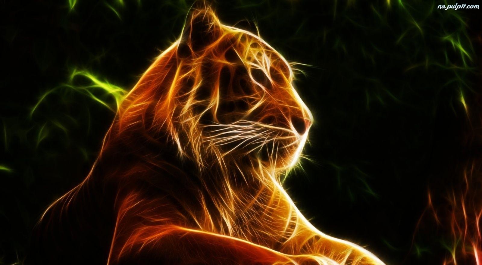 3d Tygrys Grafika Na Pulpit